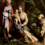 Alessandro Allori - Correggio The Rest on the Flight to Egypt with Saint Francis 1520