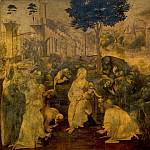 Luca Signorelli - Leonardo da Vinci - Adoration of the Magi