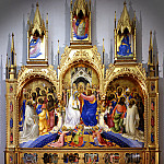 Uffizi - Lorenzo Monaco - Coronation of the Virgin