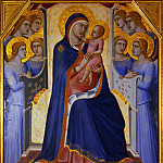 Luca Signorelli - Pietro Lorenzetti - Madonna and Child Enthroned with Angels