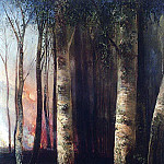 Alexey Kondratievich Savrasov - Fire in the forest. 1883