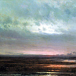 Sunset over the marsh. 1871, Alexey Kondratievich Savrasov