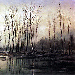 Early spring. Flood. 1868, Alexey Kondratievich Savrasov