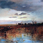 Autumn. The small village near the stream. 1870, Alexey Kondratievich Savrasov