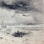 old graveyard on the banks of the Volga. 1874, Alexey Kondratievich Savrasov