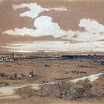 view of Moscow from Sparrow Hills. 1850, Alexey Kondratievich Savrasov