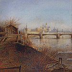 View on the Moscow Kremlin. Spring. 1873, Alexey Kondratievich Savrasov