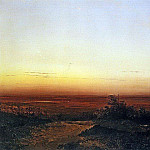 Dawn in the steppe. 1852, Alexey Kondratievich Savrasov