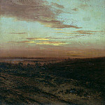 Evening. The flight of birds. 1874, Alexey Kondratievich Savrasov