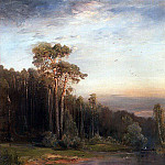 Summer landscape with pine trees near a river. 1878, Alexey Kondratievich Savrasov