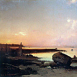 Alexey Kondratievich Savrasov - Sea coast in the vicinity Oranienbaum. 1854
