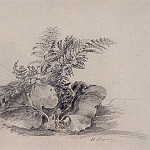 fern leaves and burdock. 1854, Alexey Kondratievich Savrasov