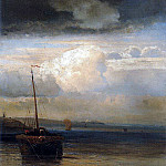 Volga. Landscape. The first half of 1870, Alexey Kondratievich Savrasov