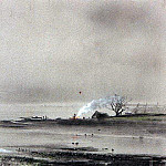 Spassky backwater on the Volga. 1893, Alexey Kondratievich Savrasov
