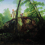 stone in the forest near the spill. Type in the estate ID Luzhin near the station Mary of Blachernae. 1850, Alexey Kondratievich Savrasov