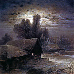Moonlit Night in the Country . 1869, Alexey Kondratievich Savrasov