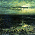 Moonlit Night. Swamp. 1870, Alexey Kondratievich Savrasov