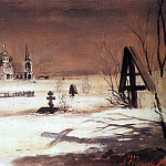 Agriculture cemetery in the moonlight. 1887, Alexey Kondratievich Savrasov