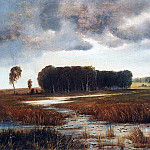 Alexey Kondratievich Savrasov - Landscape with marsh and wooded island. Late 1860 - early 1870