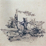Pines, adjacent to the root of the tree trunks. 1854, Alexey Kondratievich Savrasov