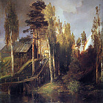 At the gates of the monastery. 1875, Alexey Kondratievich Savrasov