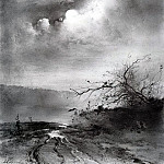Alexey Kondratievich Savrasov - Moonlit Night on the River. 1885
