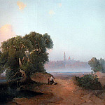 Alexey Kondratievich Savrasov - View from the Dnieper in Kiev Pechersk Lavra. 1852