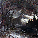 Ipatyevsky monastery in the winter night. 1870, Alexey Kondratievich Savrasov