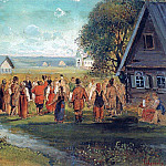 Alexey Kondratievich Savrasov - Round Dance in the village. 1873-1874