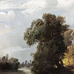 Summer day. The willows on the riverbank. 1856, Alexey Kondratievich Savrasov