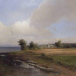 Landscape. Shore of the Volga. 1874, Alexey Kondratievich Savrasov