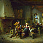 Part 1 National Gallery UK - Adriaen van Ostade - The Interior of an Inn
