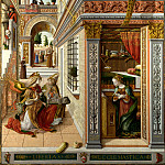 The Annunciation, with Saint Emidius, Carlo Crivelli
