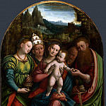 Bernardino Lanino – The Madonna and Child with Saints, Part 1 National Gallery UK