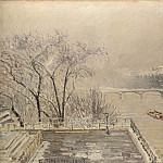 Camille Pissarro – The Louvre under Snow, Part 1 National Gallery UK
