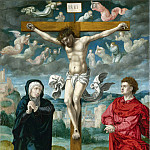 Part 1 National Gallery UK - Circle of Pieter Coecke van Aalst - The Crucifixion - Central Panel