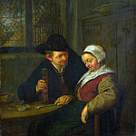 Adriaen van Ostade – A Peasant courting an Elderly Woman, Part 1 National Gallery UK