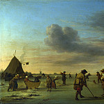 Adriaen van de Velde – Golfers on the Ice near Haarlem, Part 1 National Gallery UK