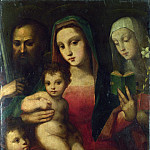 Part 1 National Gallery UK - Andrea and Raffaello del Brescianino - The Madonna and Child with Saints