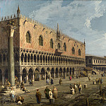 Canaletto – Venice – The Doges Palace and the Riva degli Schiavoni, Part 1 National Gallery UK