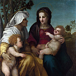 Andrea del Sarto – The Madonna and Child, Saint Elizabeth and the Baptist, Part 1 National Gallery UK
