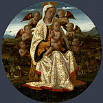 Part 1 National Gallery UK - Bernardino Fungai - The Virgin and Child with Cherubim