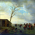 Andries Vermeulen – A Scene on the Ice, Part 1 National Gallery UK