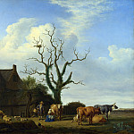 Adriaen van de Velde – A Farm with a Dead Tree, Part 1 National Gallery UK