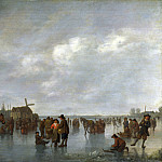 Abraham van Calraet – Scene on the Ice outside Dordrecht, Part 1 National Gallery UK