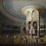 Canaletto – London – Interior of the Rotunda at Ranelagh, Part 1 National Gallery UK
