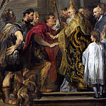 Anthony van Dyck – St Ambrose barring Theodosius from Milan Cathedral, Part 1 National Gallery UK