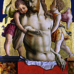 Part 1 National Gallery UK - Carlo Crivelli - The Dead Christ supported by Two Angels