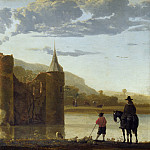 Aelbert Cuyp – Ubbergen Castle, Part 1 National Gallery UK