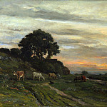 Charles-Francois Daubigny – Landscape with Cattle by a Stream, Part 1 National Gallery UK